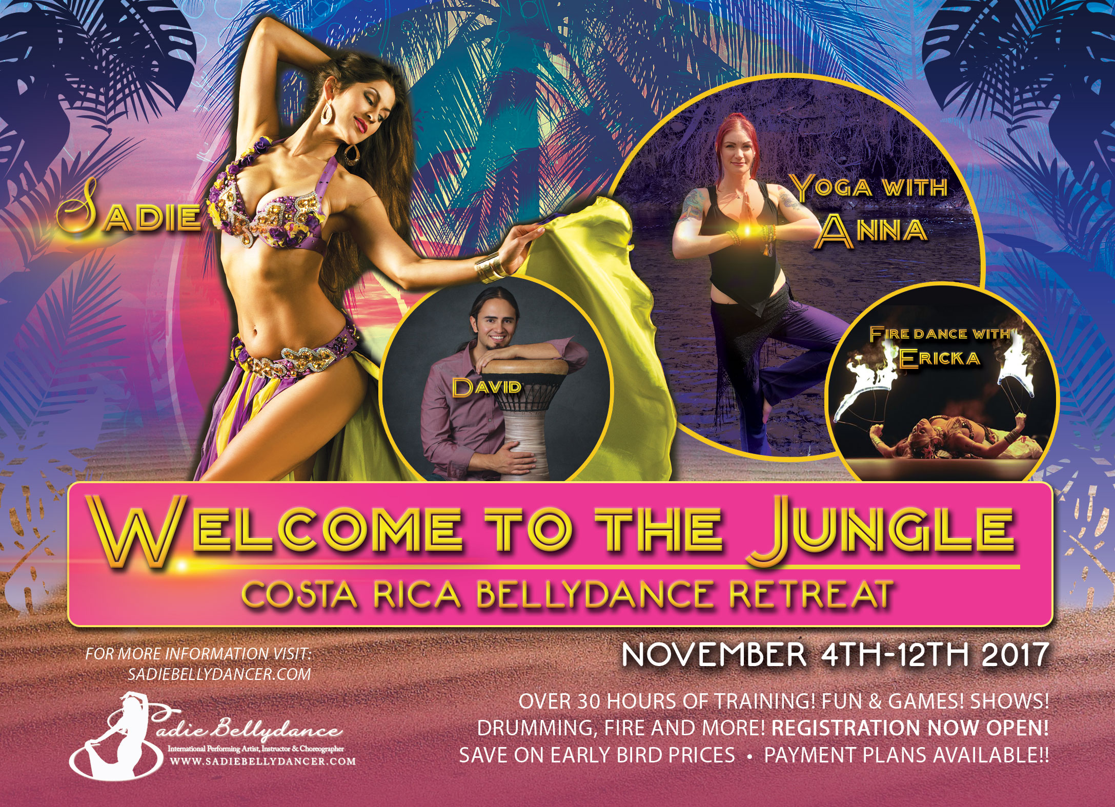 Welcome to the Jungle ~ Costa Rica Retreat 2017 @ Doce Lunas Hotel